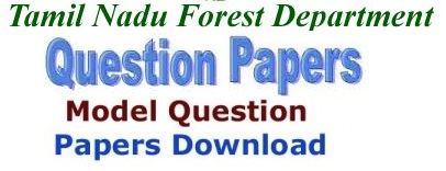 TN (TNFUSRC) Forest Dept Model Question Papers 2017 Answer Key