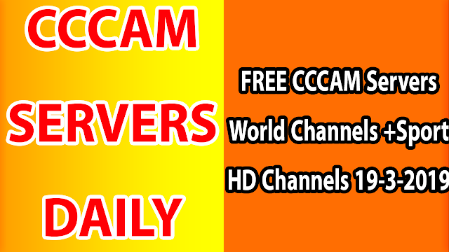 FREE CCCAM Servers World Channels +Sport HD Channels 19-3-2019