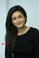 Telugu Actress Mishti Chakraborty Latest Pos in Black Top at Smile Pictures Production No 1 Movie Opening  0157.JPG