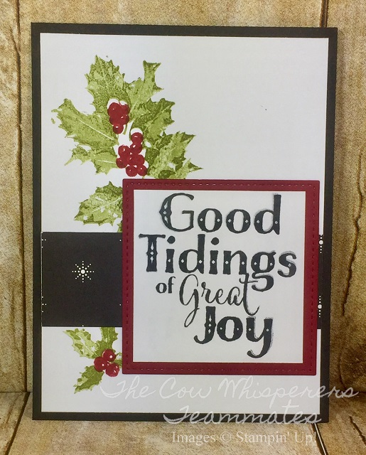 Card, Good Tidings, Christmas Quilt, Retiring