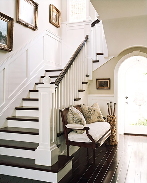 Grey Panelling Under Stairs: High Street Market: Architectural Trim & Wainscoting