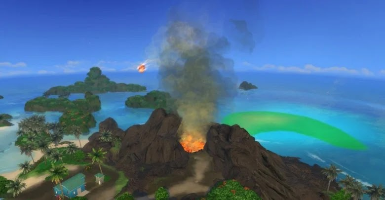 How to activate the volcano in The Sims 4: Island Living