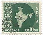 Selo Mapa da Índia, cor verde