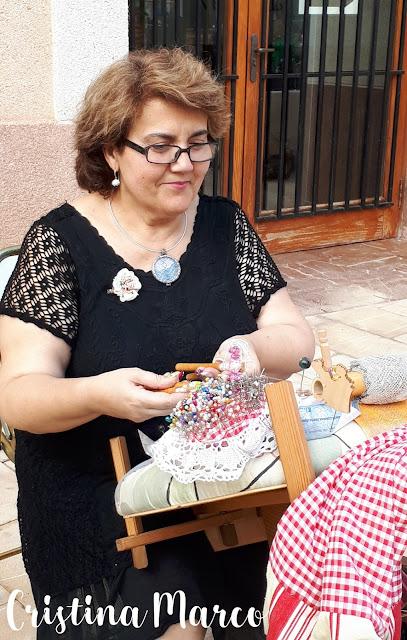 Fireta de Sant Jaume Cristina Marco fent boixets