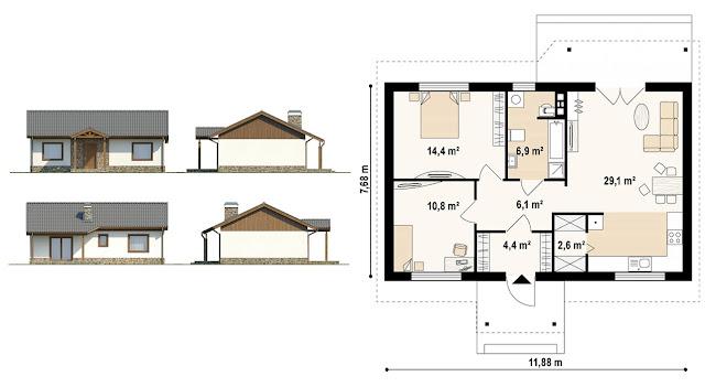каркасные дома под ключ проекты