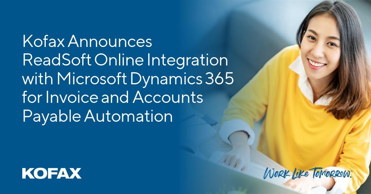 Kofax Integrasikan ReadSoft Online dengan Microsoft Dynamics 365