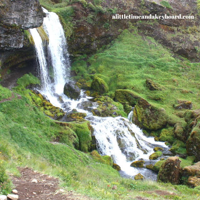 Captivated by a hidden waterfall in West Iceland on the Snaefellsnes Peninsula