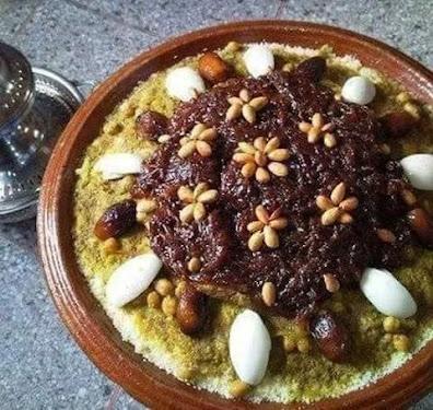 وصفة كسكس تفاية بالبصلة معسلة و الزبيب couscous.. وصفات طبخ مغربي
