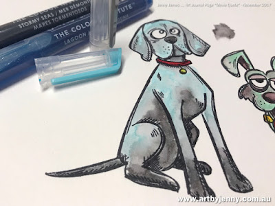 Colouring Tim Holtz Crazy Dogs with Jane Davenport Mixed Media Mermaid Markers