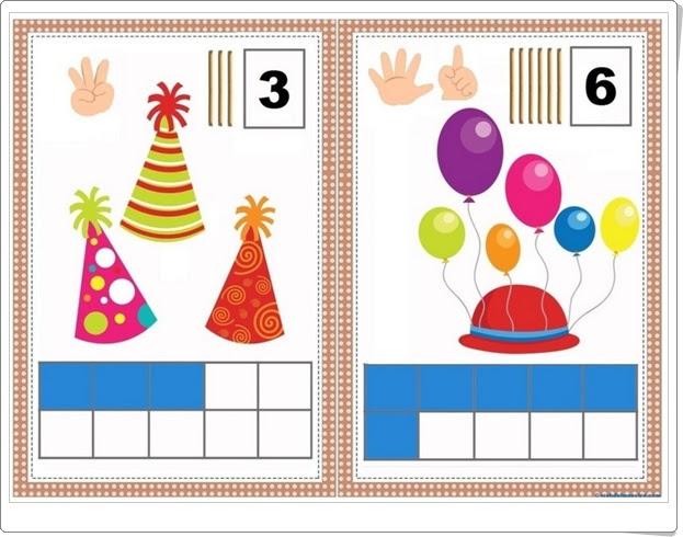 """""""Carteles para aprender a contar hasta el 10"""" (Números de Educación Infantil)"""