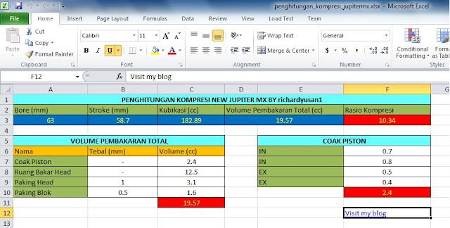 Penghitungan Rasio Kompresi Jupiter Mx Dengan Bantuan Software