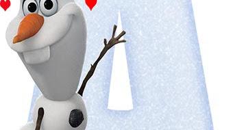 Letras de Olaf para imprimir ⛄