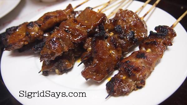 Tita Beth's Pancit Malabon Haus - pork barbecue - Bacolod restaurants