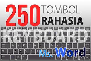 250 Daftar Fungsi Rahasia Shortcut Tombol Keyboar dalam Microsoft Word
