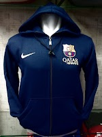 Jaket Hoodie Barcelona Warna Navy Polos
