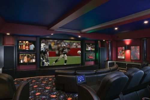 Pictures Of Home Theater Rooms: The Perfect Man Yard: New Home Essentials
