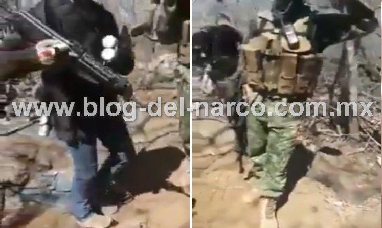"""""""Ya ando rosado de andar correteando a estos P..ndejos"""", CJNG se burla de """"La Familia Michoacana"""" tras encontrar trinchera con bombas 'piratas' y latas de sardina"""