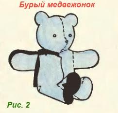 Винтажный медвежонок, выкройка