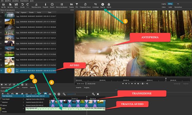 creazione e esportazione slideshow