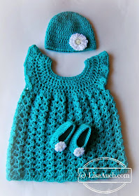 free crochet baby crochet patterns dress hat and booties