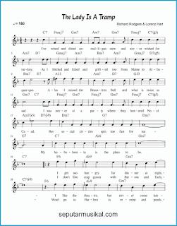 chord the lady is a tramp 1 lagu jazz standar