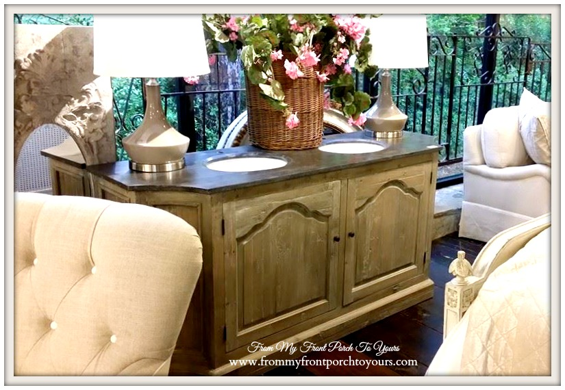 Laurie's Home Furnishings-Farmhouse Bathroom Vanity- From My Front Porch To Yours