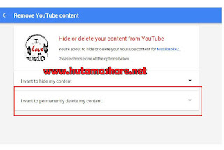 Menghapus Channel Saluran Youtube