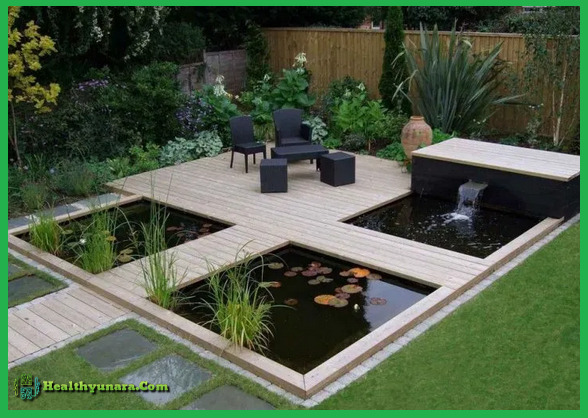 Fish pond and relaxing place