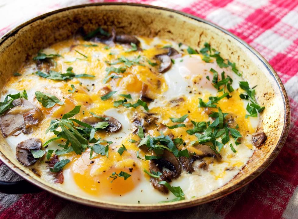 Resep Mushroom egg bake
