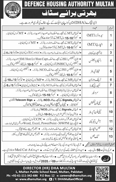 defence-housing-authority-dha-multan-jobs-2020-latest-advertisement