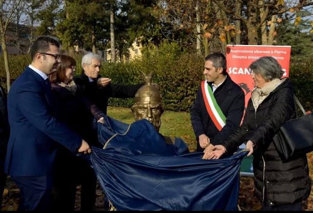 A bust of Gjergj Kastriot Skanderbeg Inaugurated in Parma