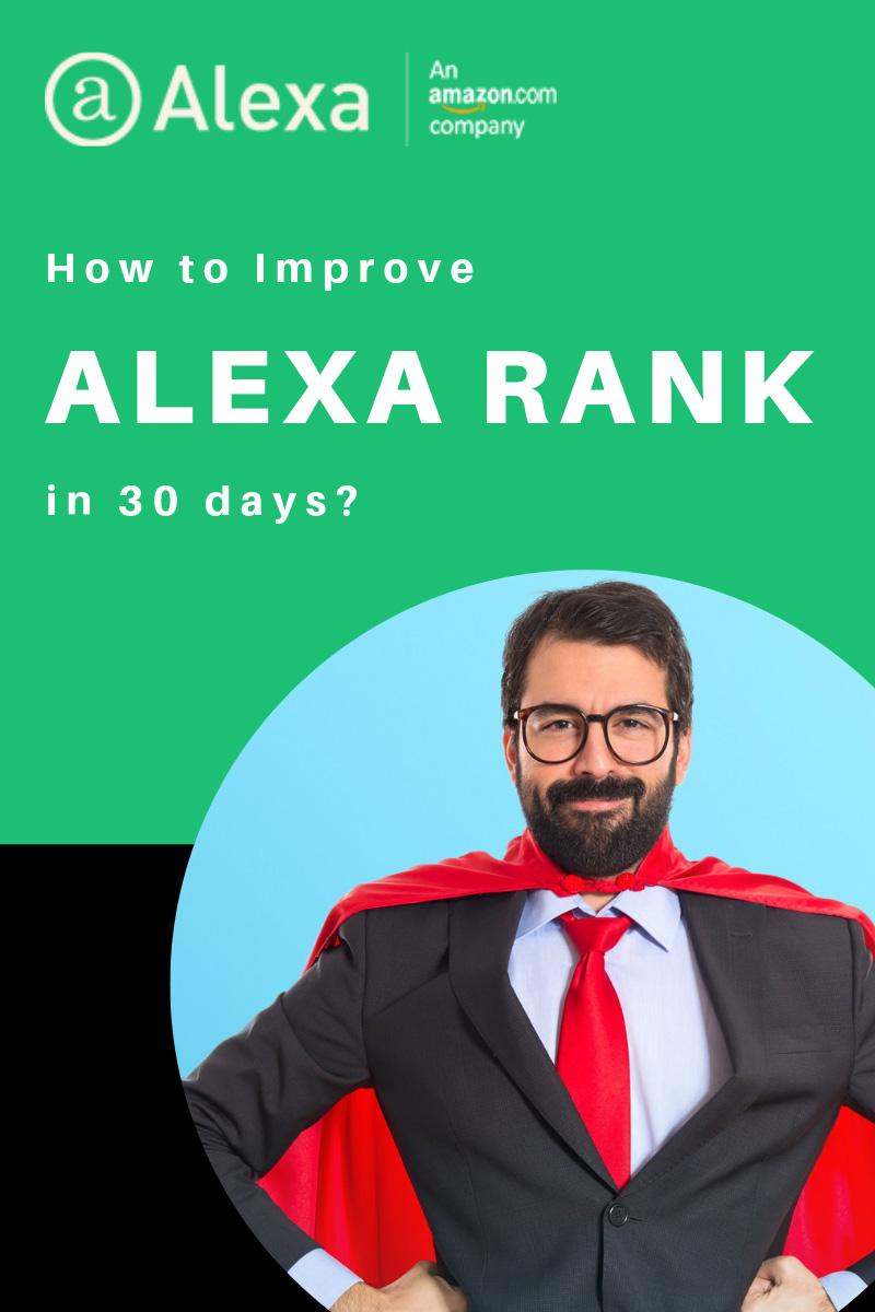 improve alexa rank in 30 days