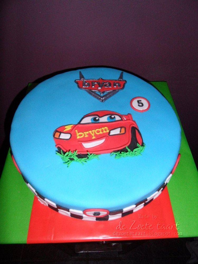 taart bliksem mcqueen De zoete taart: Lightning McQueen taart bliksem mcqueen