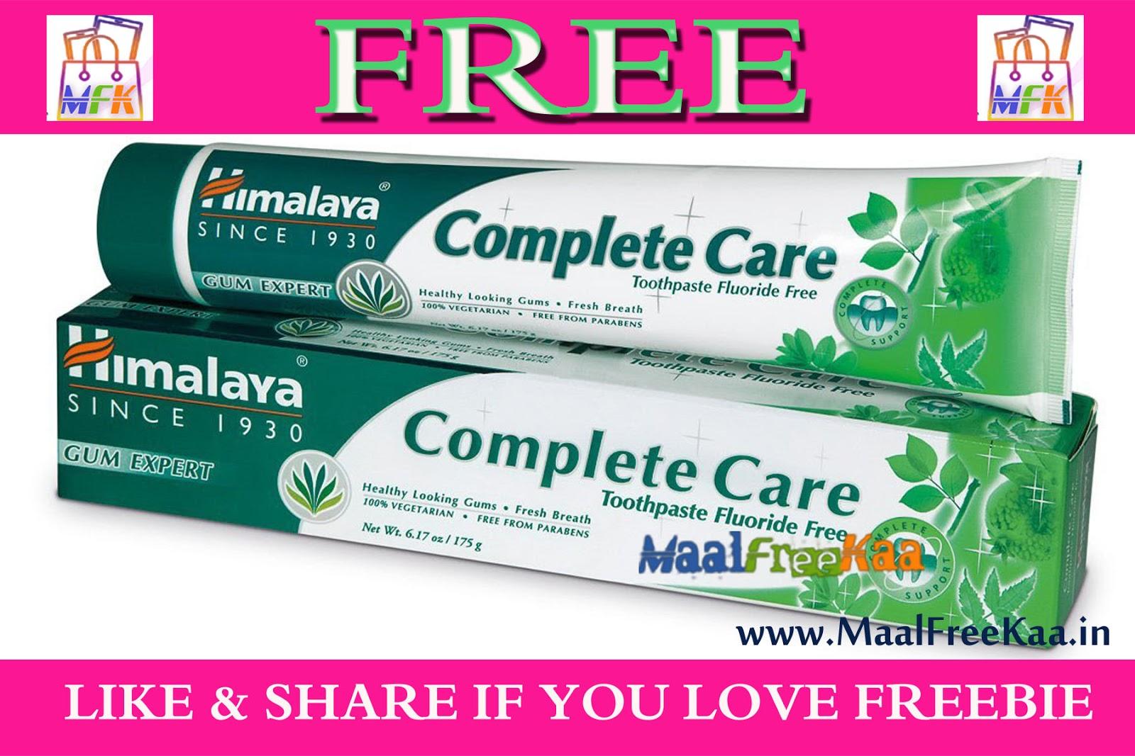 Free Sample Himalaya Complete Dental Care Freebie Giveaway Contest