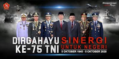 Spanduk HUT Ke - 75 TNI Tahun 2020