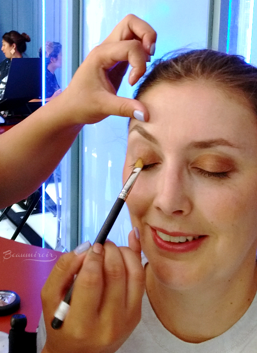 Makeup being done at Mac Star Trek space station San Diego Comic Con