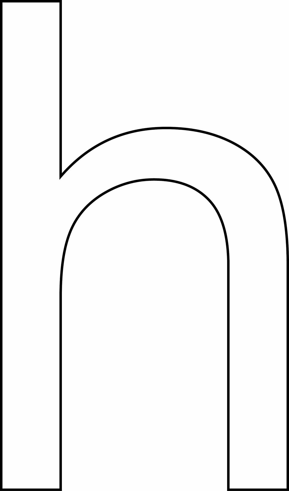 Letra h - minúscula para imprimir
