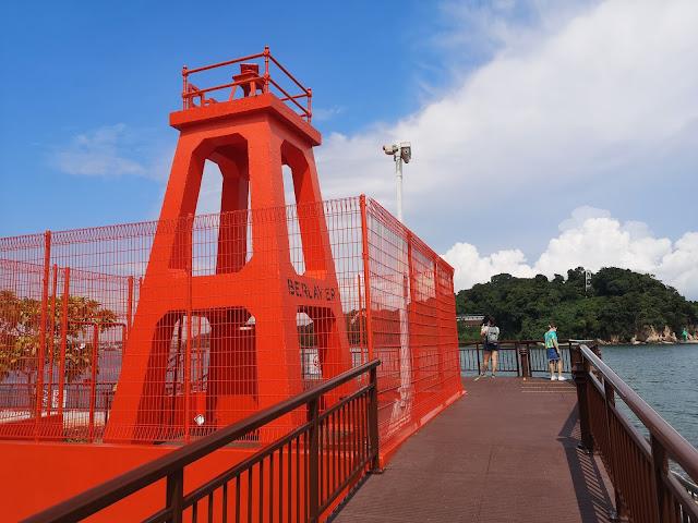 新加坡本岛最南端的红色灯塔