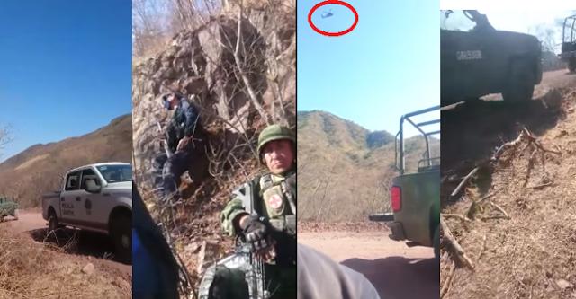Video: Helicóptero Militar Black Hawk con ametralladora M134 entra al quite y desde aire rafaguea a Sicarios de El CJNG que intentaron tomar Michoacán