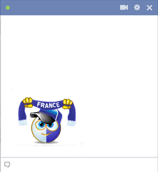 France football fan emoticon