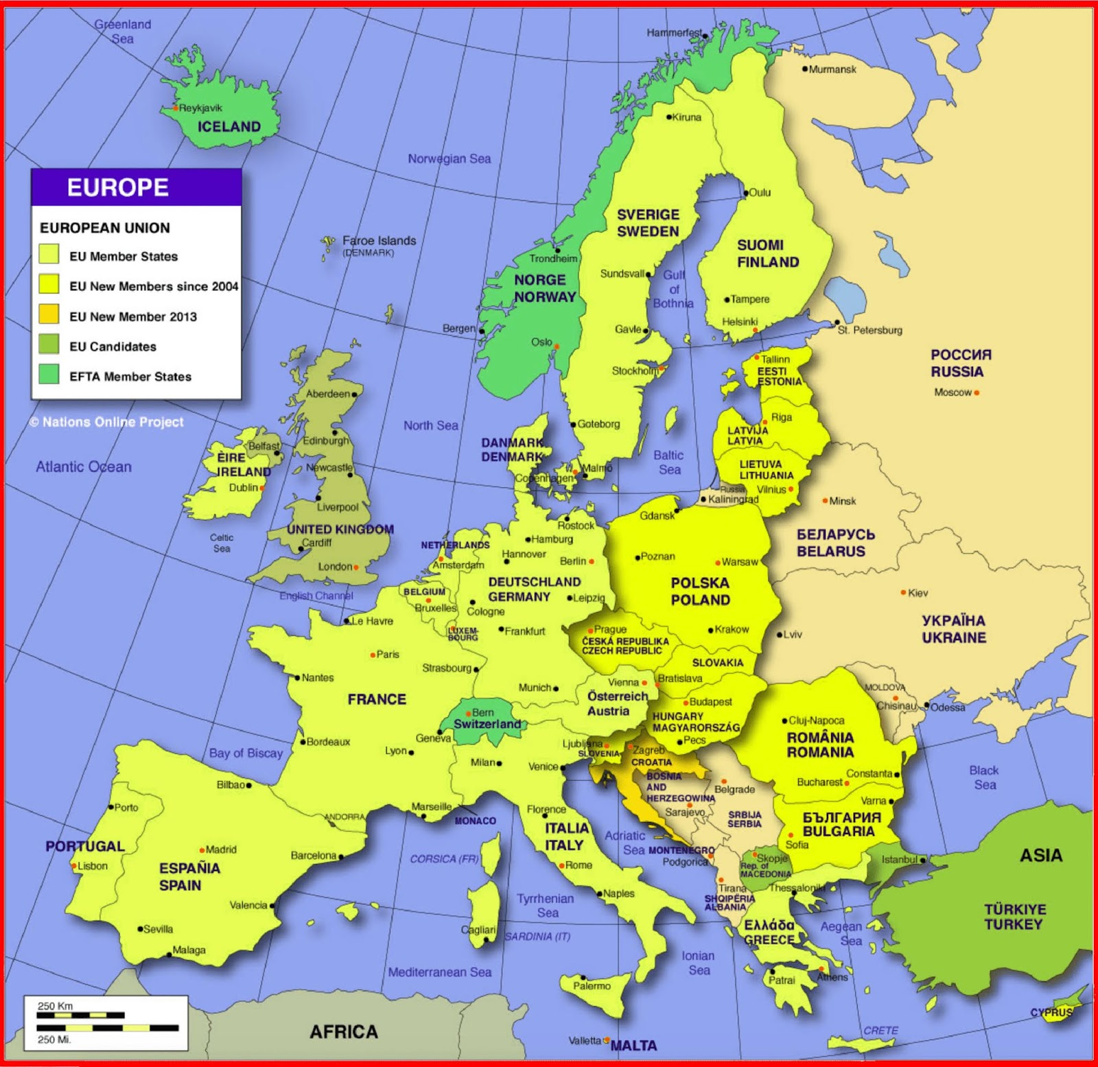image: Europe Countries Map