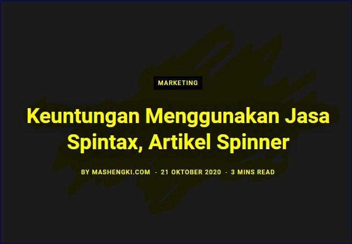 Jasa Spintax, Artikel Spinner