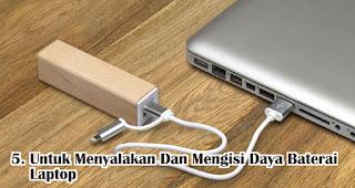 Manfaat Lain Powerbank Untuk Menyalakan Dan Mengisi Daya Baterai Laptop