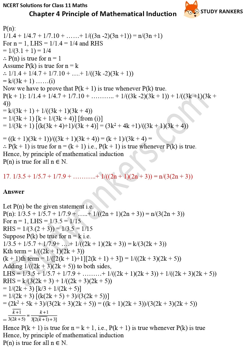 NCERT Solutions for Class 11 Maths Chapter 4 Principle of Mathematical Induction 9
