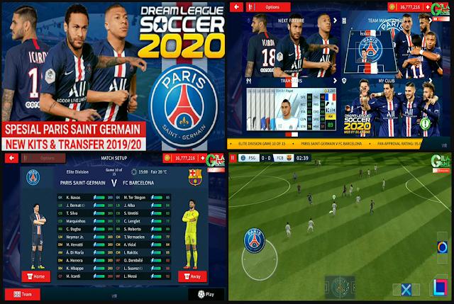 DLS 2020 Mod PSG 2019/2020