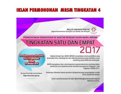 MRSM TINGKATAN 4.2017