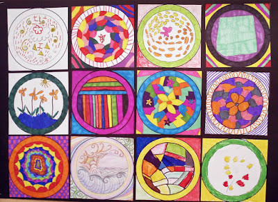 Make a Circle Collage with your Group...! Printable Template!