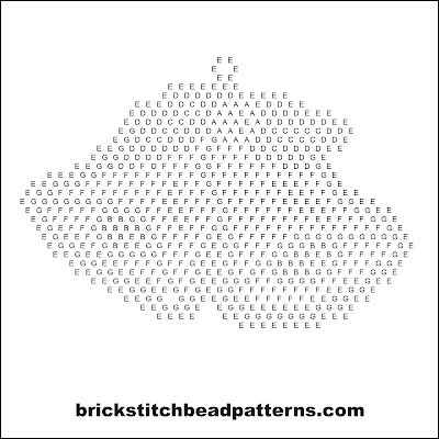 Click for a larger image of the Silver Bells brick stitch bead pattern word chart.