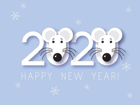 提前2020年新年快樂-祝新年快樂