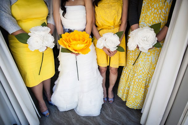 Curly Fries: BRIDAL COUTURE: Giant Paper Flower Bouquets